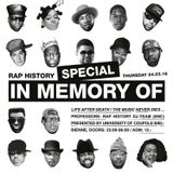 "DJ Wiz - Rap History Special ""In Memory Of..."" (Live Mix)"