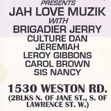 Jah Love  Tour Toronto @ 5 Star Banquet Hall Josey Briggy Jeremiah  Selector Jah B  29 May 1999 #350