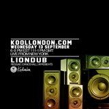 LIONDUB - 09.13.17  - KOOLLONDON [REGGAE DANCEHALL]