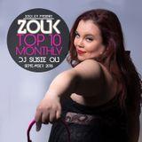 September 2016, Brazilian Zouk Top 10, DJ Susie Qu