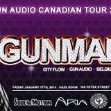 THE GUN AUDIO  CANADIAN TOUR 2014 Toronto Promo Mix