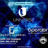 Operator Records - Operator Universe RadioShow - 30-06-2016 / Alme Music World - Franco Landriel