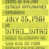 Kraftwerk Live @ Nitro Club (Detroit, 25.07.1981)