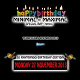 Special Birthday Minimal = Maximal Ray-Mix 2013