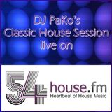 DJ PaKo's Classic House Session live on 54house.fm