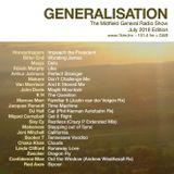 Generalisation Radio Show - July 2018.