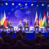 Forum Ekonomiczne w Krynicy - prof. Józef BRYNKUS i Sławomir Wróbel