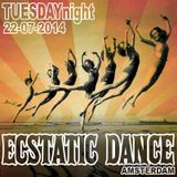 Ecstatic Dance Amsterdam - Tuesdaynighter - Dj Martyn Zij - 22-07-2014