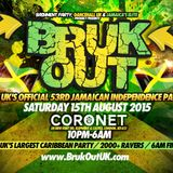 BRUK OUT - Jamaica's 53rd Independence: Sat 15th Aug - OFFICIAL MIX (Mixed by DJ Nate)