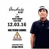Andrés DJ SET @ MULTIFORM SOUNDS CNVLXN 2016