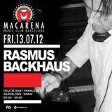 Rasmus Backhaus @ Macarena club, Barcelona