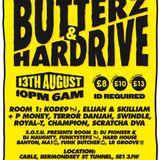 Butterz & Hardrive at Cable Club London ft Terror Danjah, D Double E & Bruza 13/08/11