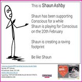 SHAUN ASHBY PLAYING FOR CONSCIOUS SOUNDS ON THE 20TH FEBRUARY AT THE SOUTHWARK ROOMS