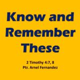 Know and Remember These