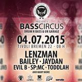BASS circus - FOCUZ - PRP - Breaks Set // 4.7.2015,  Tivoli, Bremen