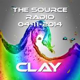 Clay @ The Source Radio - Deep in to the Vibe of House (04-11-2014)