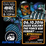 The Ruffneck Ting Takeover 03 10 2016 with Dazee and live from the XLJ: jinx, The Force, Verdikt