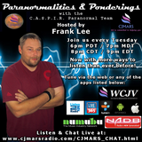 Paranormalities & Ponderings Radio Show featuring guest Dave Considine - CJ Mars Network Premiere!