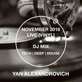 2016 NOVEMBER DANCE MOOD [TECH HOUSE] LIVE VINYL SET (YAN)