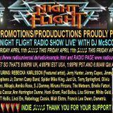 The Nightflight Radio Show from 11th April 2014 with DJ McScotty aka Steve Perz