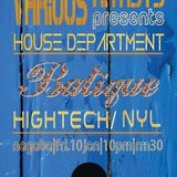 Batique (Hightech & Nyl) Part 2 @ House Department Various Artists,Nagaba (10-01-14)