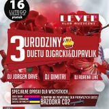 LEVEL (Świdnica) - Adrena Line @ 3 Urodziny Duetu DJ Gacki & Pawlik (16.02.2018)