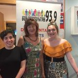 Dublin Pride with Chairperson Clodagh Leonard and participant Megan Byrne