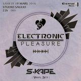 S-Kape - Live at Studio Saglio, Electronic Pleasure (19-03-16) (Vinyl Set)