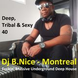 DJ B.Nice - Montreal - Deep, Tribal & Sexy 40 (Mixology of FUCKIN' Massive Underground Deep House !)