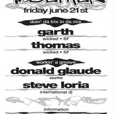 Thomas from Wicked SF Recorded Live at Together Room 1 at The Bay St Loft on June 21st 1996
