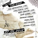 Mark Hawkins (Live PA) @ I`am You Live-Night - Suicide Circus Berlin - 07.04.2012