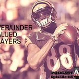 Ep115 - Over/Under Valued Players - Fantasy Football Auction Podcast