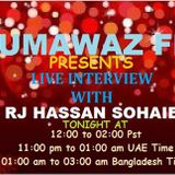 www.humawazfm.com   rj hassan sohaib interview session of singer upoma from bangladesh at 23 sep 13