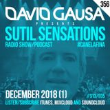 Sutil Sensations Radio Show/Podcast #356 - The penultimate show of 2018 with #HotBeats + #CanelaFina