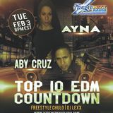 Top 10 EDM Countdown Special Guests Ayna & Aby 2-2-16