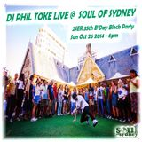 SOUL OF SYDNEY #215- Phil Toke @ 2SER 35th Birthday Block Party - 6pm - Sunday Oct 26 2014
