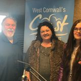 Natasha (from Cornish Craft Fairs) and Lottee Brown (local Vocalist) Coast to Coast 16th March 2018