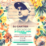 Dj Cartier @ #ADecadeOfScholarTee Summer Day Party - Brick Lane, Shoreditch 30.07.2017