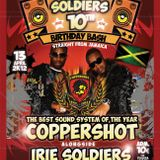 IRIE SOLDIERS 10th ANNIVERSARY ls COPPERSHOT(JAM)pt.2