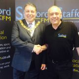 The Mayor of Stafford Borough 2014, Cllr. Ray Sutherland talks with Ray Crowther