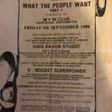 Saxon Studio Sound v V Rocket Super Power@MFM Club Northampton UK 9.9.1988