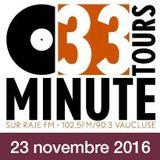 33 TOURS MINUTE - Le meilleur de la musique indé - 23 novembre 2016