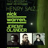 Henry Saiz - The Labyrinth 21 - Live @ Ministry of Sound, London [FULL SET] - 14-Nov-2014
