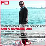 ADVANCED MODERN HOUSE MUSIC RADIO SHOW NOVEMBER 2015 BY FRANCESCO DIAZ