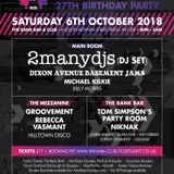 Early main room warm up for 2manydjs at the Rhumba Club 27th Birthday Party.