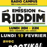 Emission RIDDIM 19 février 2018 avec ROOTIKAL VIBES
