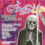 """Franky Jones at """"Ghosttown"""" @ Planet Hardcore (Berlare - Belgium) - 21 April 1995"""