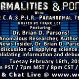Paranormalities & Ponderings 20160216 Host Frank Lee