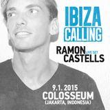 Ramon Castells Live Set at Ibiza Calling On Tour - Colosseum Jakarta - Indonesia - January 2015