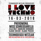 miss schreddarella @ i ove techno 16.3.18 technodisco wetzlar